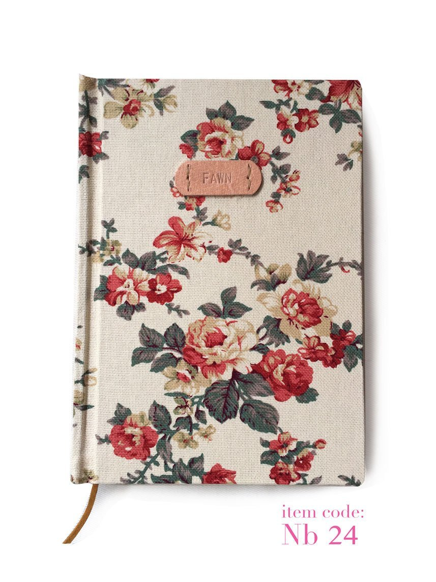 Borann Floral Handmade Monogram Journal Diary Notebook Sketchbook