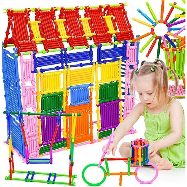 100PCS Plastic Boy Girl Straw Building Blocks Joint Development Puzzle Kids Toys