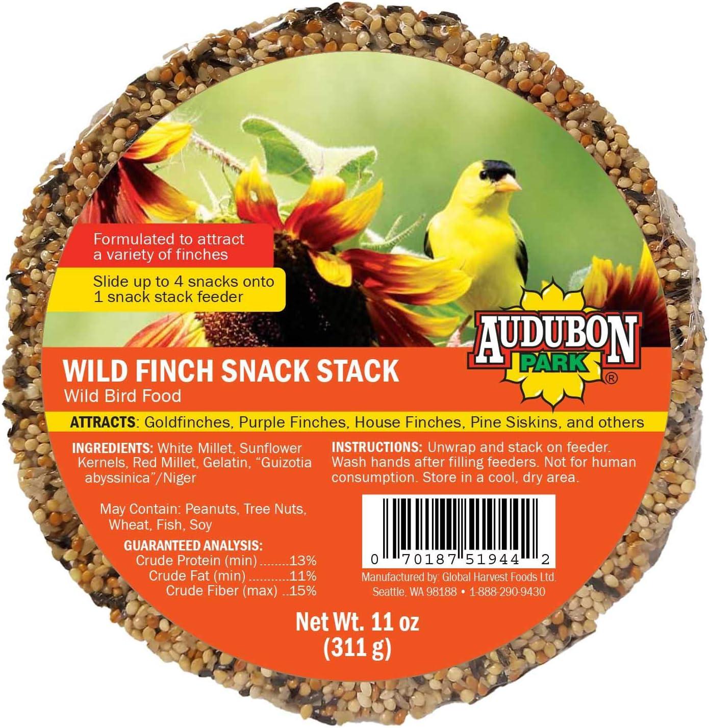 Audubon Park 13140 Wild Finch Snack Stack Wild Bird Food, 6-Pack