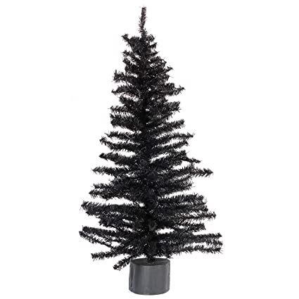 factory direct craft 2 foot black artificial pine tree for christmas halloween and year round - Black Artificial Christmas Tree