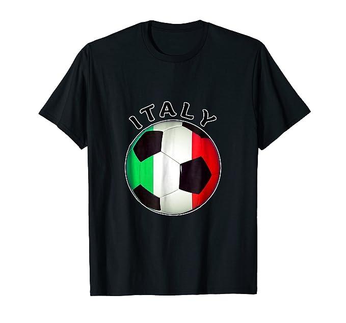 Mens Italian Soccer T Shirt- Camiseta De Futbol Italiano 2XL Black