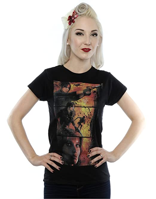 Star Wars Mujer Rogue One Jyn Comic Strip Camiseta: Amazon.es: Ropa y accesorios