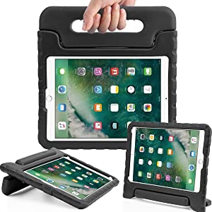 AVAWO Kids Case for iPad 9.7 2017/2018 & iPad Air 2 - Light Weight Shock Proof Convertible Handle Stand Friendly Kids Case for 9.7-inch iPad 5th & 6th Gen, iPad Air 1 & iPad Air 2 - Black