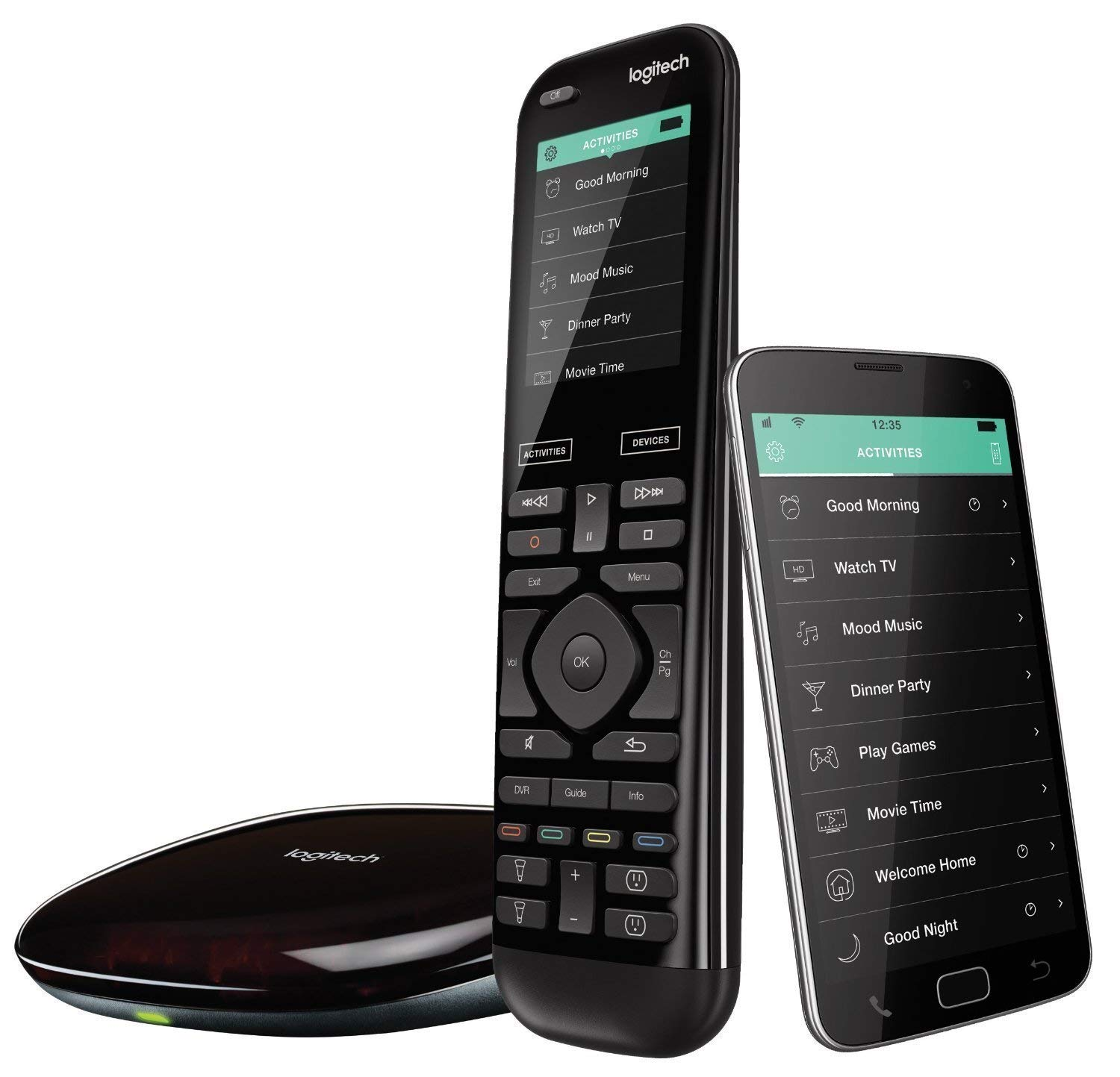 Logitech Harmony Elite Enhanced Universal Remote Control for SKY, Apple TV, fireTV, Alexa, Roku, Netflix, Sonos and Smart Home, Easy Set-Up, App and Hub, LG/Samsung/Sony/Hisense/Xbox/PS4 - Black