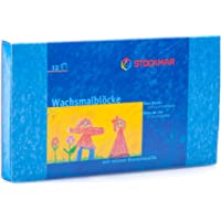 STOCKMAR Beeswax Crayons, Set of 12 Blocks in Carton