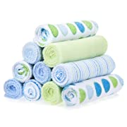 Spasilk 10 Pack Soft Terry Washcloth, Blue