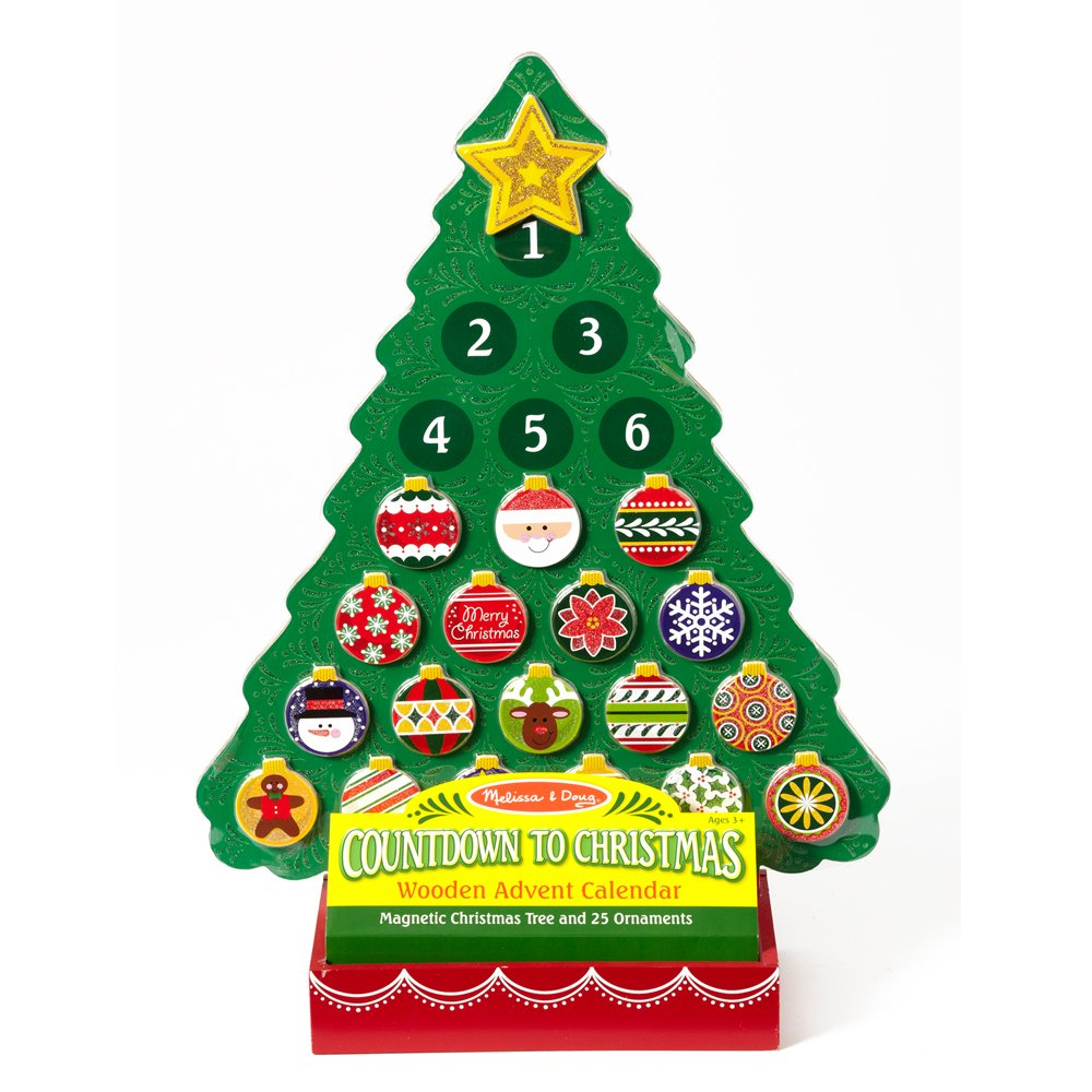 Amazon.com: Melissa & Doug Countdown to Christmas Wooden Advent ...