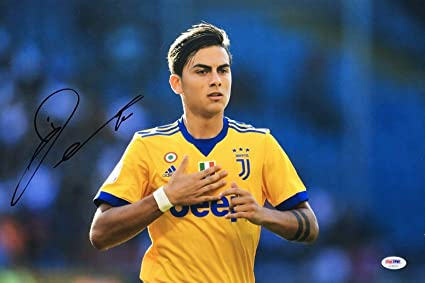 official photos 68311 00474 Paulo Dybala Signed 12x18 Soccer Photo *Juventus AE46738 ...