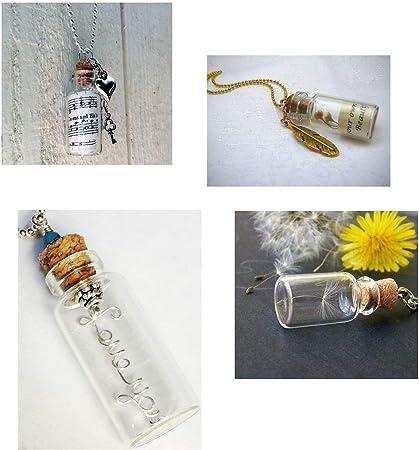 JZK 20 x Mini botella de cristal con corchos 5ml botes cristal pequeños para hierbas aceites especias dulces joyas mensaje viales de vidrio