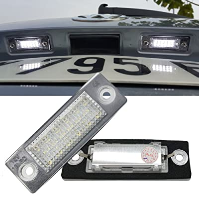 VW LED License Plate Light - NSLUMO Led Number Plate Lamp For Volkswagen Vw Candy Golf Jetta Passat Touran Transporter Led Assembly Tail Rear Light: Automotive