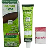 Herbal Time - Crema de Henna Colorante, Marrón Natural 10, Listo para usar, Sin Amoniaco, Sin Parabenos