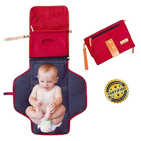 Cambiador Portatil Plegable – De Viaje Para Bebé – Nueva Generación – Impermeable acolchado universal –
