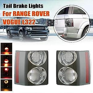 Rear Tail Brake Light Lamp Fits For Land Rover Range Rover HSE VOGUE L322 2002-2009 2PCS (Len Color: Clear)