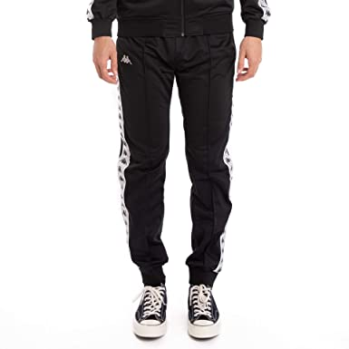 9e95080d Kappa 222 Banda Rastoriazz Pants - Black/White at Amazon Men's ...