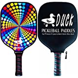 Duck Ranger—Graphite Pickleball Paddle—Polymer Birdbone Core And Waterproof Carbon Fiber Face, Pick Your Design, USAPA Approved (Multiple Color Options)