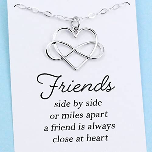 05b4552e67b31 Amazon.com: Best Friend Gift • Infinity Heart Necklace • Sterling ...