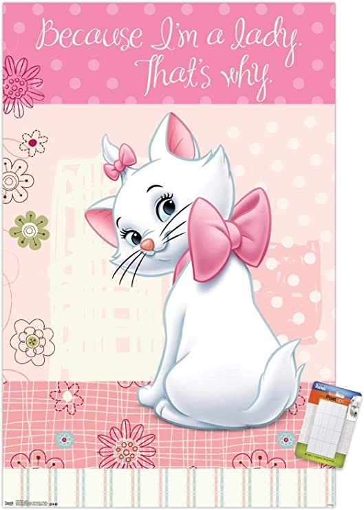 Marie Aristocats Dictionary Art Print Poster Picture Disney Cat Vintage Book