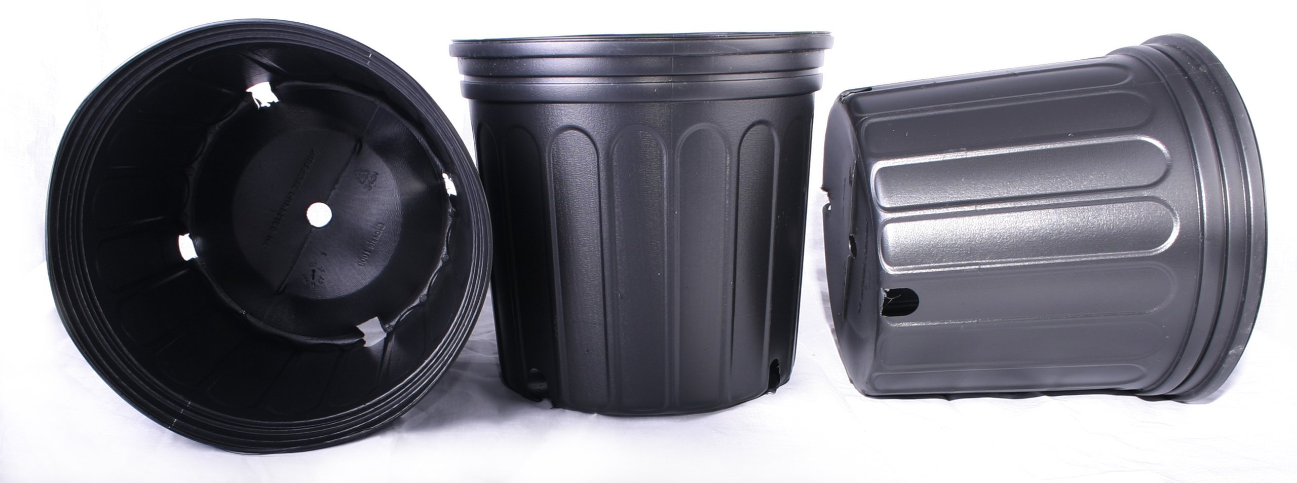 12 NEW Plastic Nursery 3 Gallon Trade POT ~ Actual Volume: 2.296 Gallons by Nursery Supplies