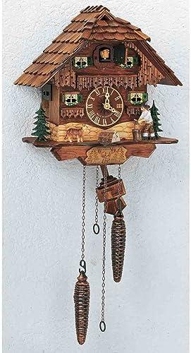 Schneider 75 9 10 Antique Stained Chalet Cuckoo Clock with Woodchopper