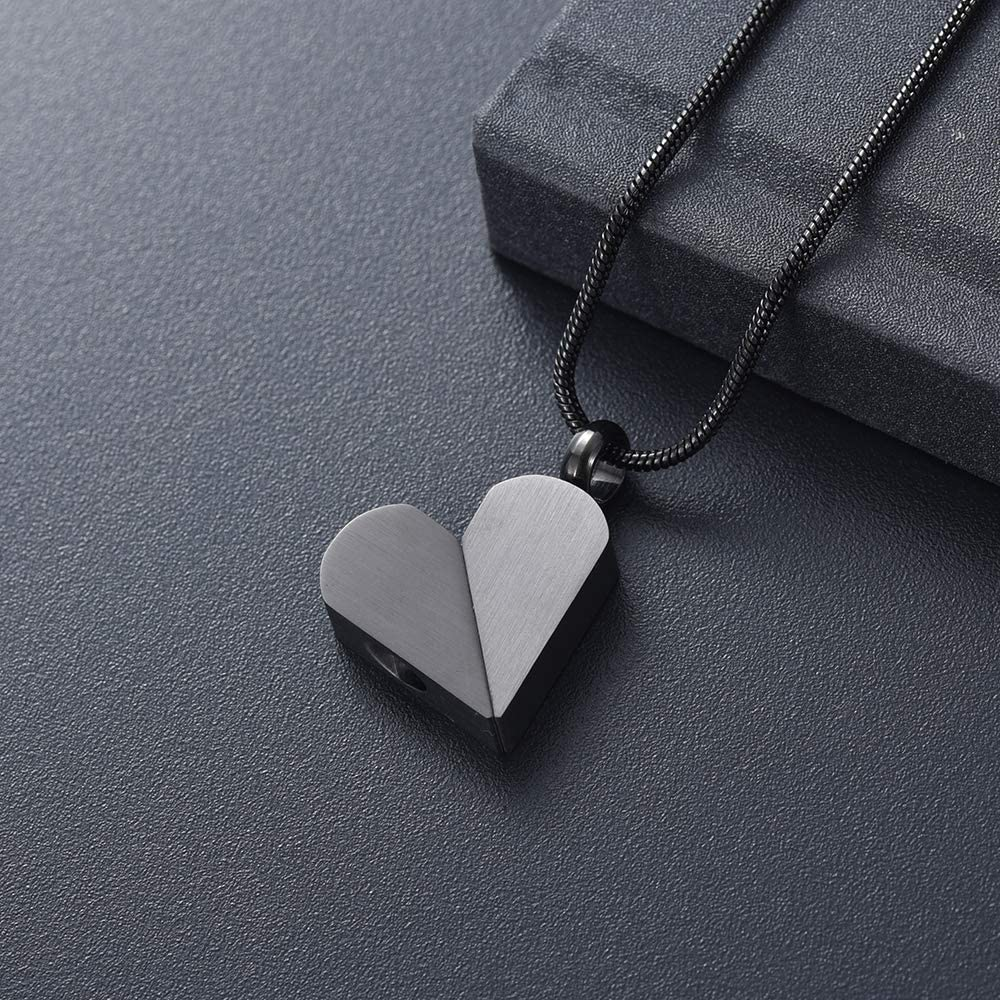 Yinplsmemory Cremation Jewelry Urn Necklace for Ashes Heart Convertible Dog Tag Pendant Necklace for Ashes Holder Memorial Keepsake Pet Ashes Jewelry Urn Jewelry