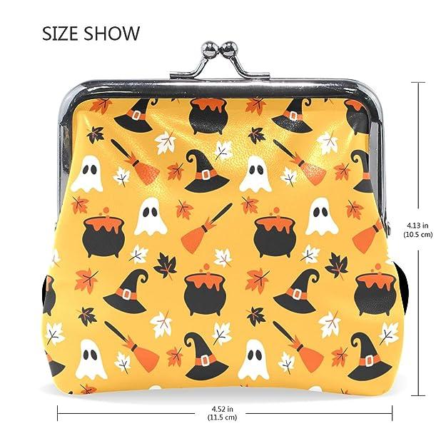 Amazon.com: JERECY Halloween Ghost patrón monedero de cuero ...
