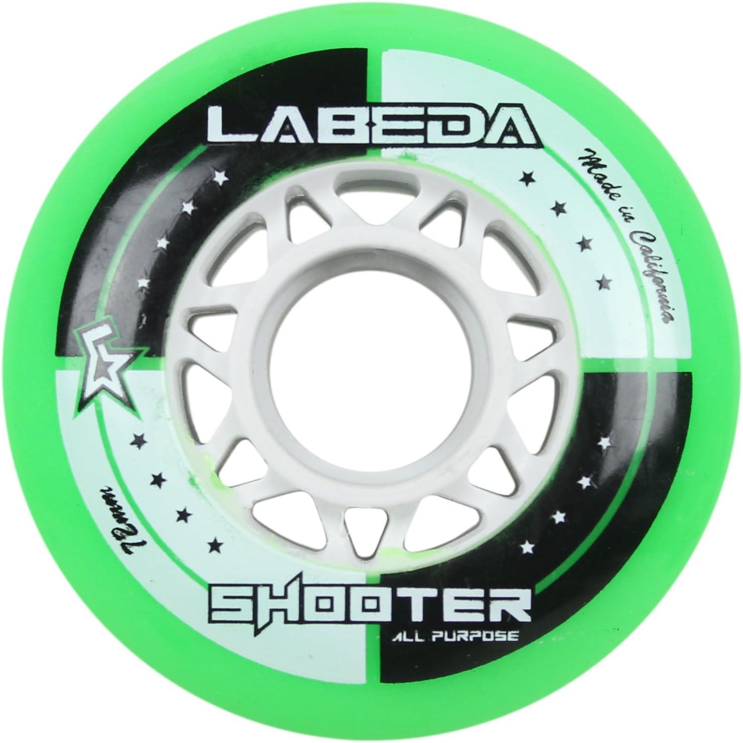 Labeda WheelsインラインローラーホッケーShooterすべて目的グリーン72 mm 83 a x1