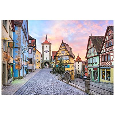 ling Jigsaw Puzzle Adult Jigsaw Puzzle -Rothenburg Puzzle -Wooden 1000 Pieces -HD Printing -Letter Partition -with Special Glue for Jigsaw -Decompression Children's Educational Toys: Toys & Games