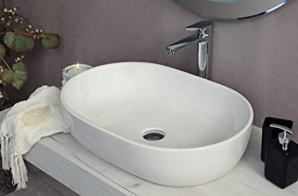 Yellowshop lavabo da appoggio cm 60 x 42 bacinella lavandino