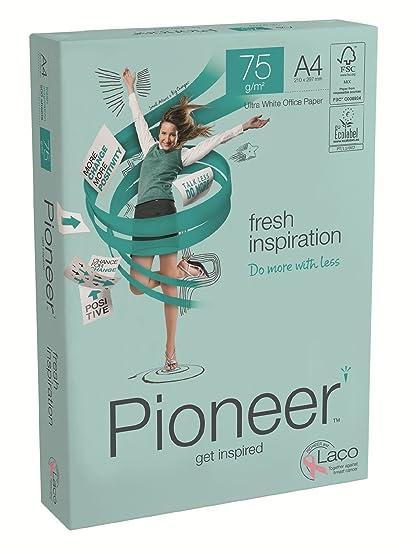 PIONEER - Papel premium para impresora 500 folios 75 g/m2