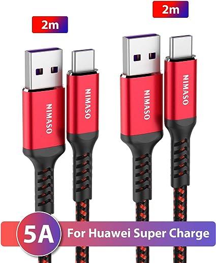 2M 5A Super câble de chargeur USB de type C pour Huawei P30