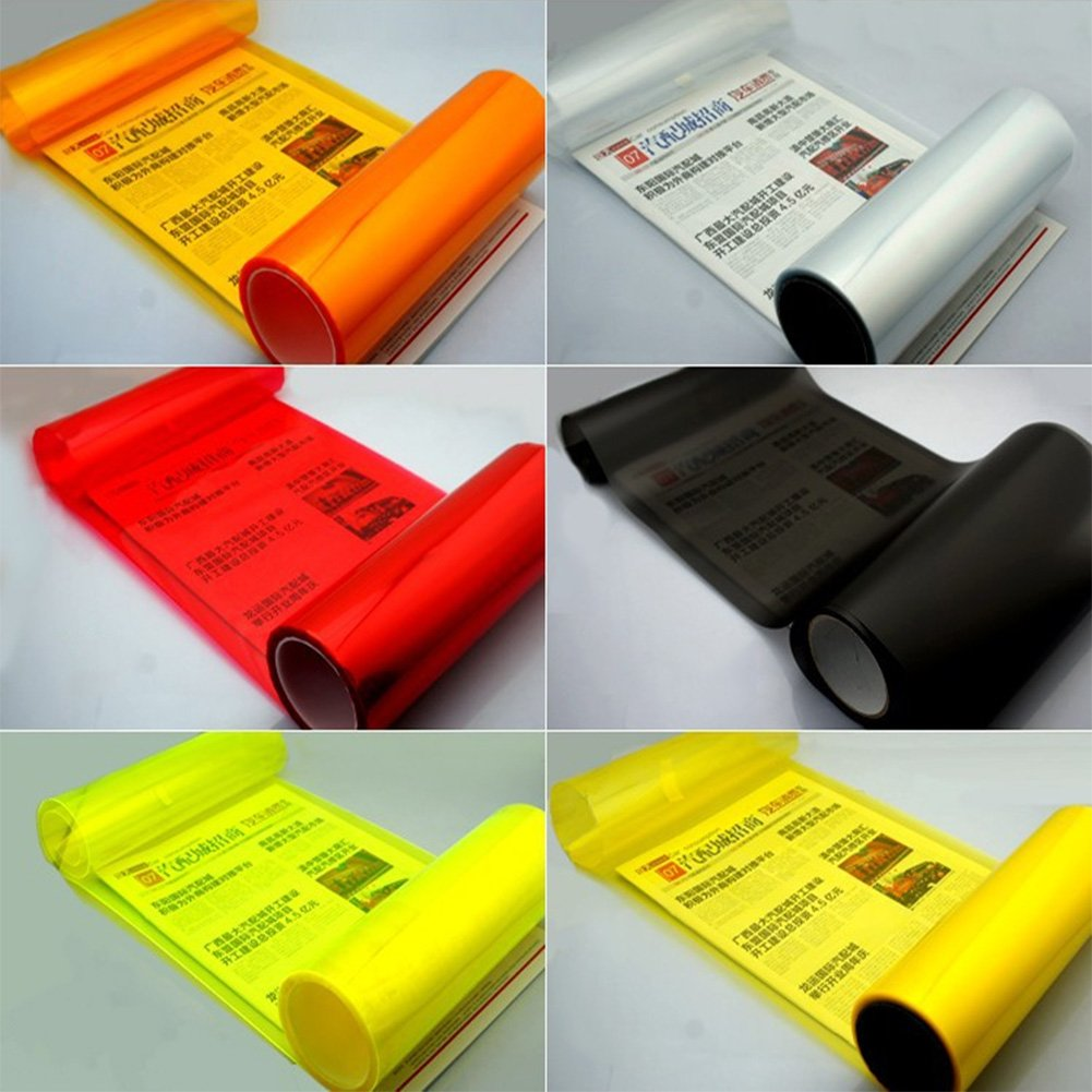 Calistouk Vinilo adhesivo para faros delanteros de coche, 30 x 60 cm: Amazon.es: Coche y moto