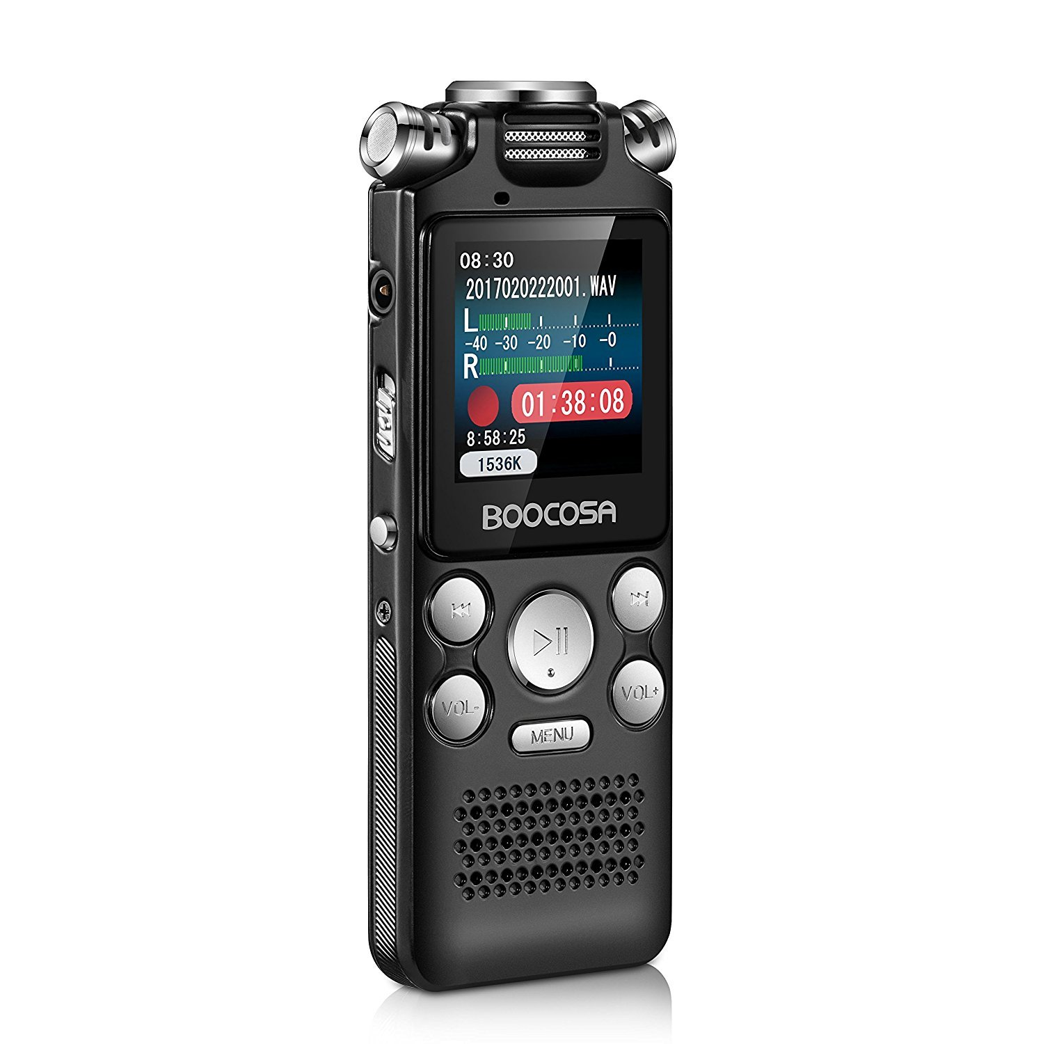 Voice Recorder - 8GB Audio Sound Recorder – Portable Rechargeable Dictaphone Recorder with Playback Noise Cancellation, A-B Repeat, Sleep Timer, MP3 Player