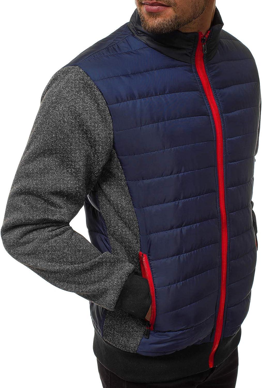 MOODOZ Herren /Übergangsjacke Bomberjacke Steppjacke Fliegerjacke/Freizeitjacke Sportjacke Modern Jacke Sportswear Fr/ühlingsjacke JS//TY050