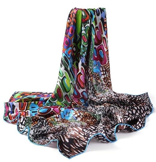 94beba79b87 Prettystern P032 - 90cm de côté foulard de soie peinture inspirée  Reproduction d art