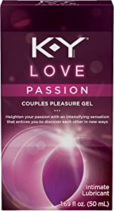Personal Lubricant, K-Y Love Water-based Lubricant, 1.69 oz., Personal Lube For Women That Will Bring Tingling Sensations