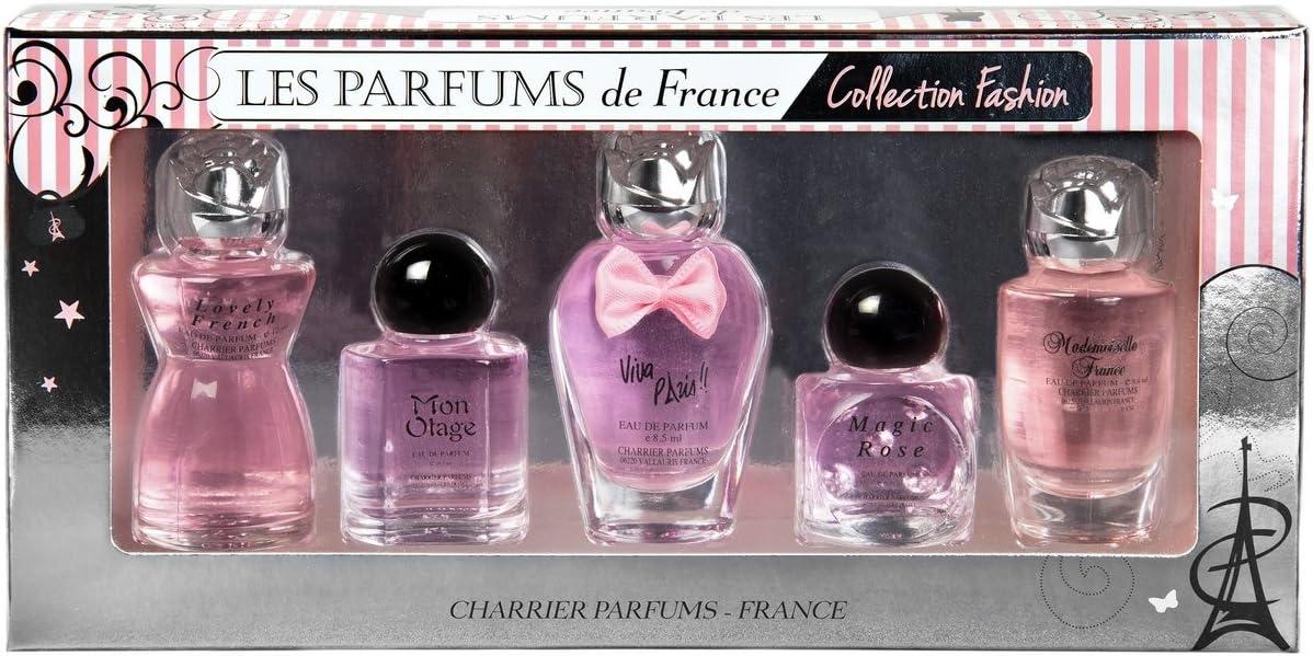 Charrier Parfums de Francia Collection Fashion caja de 5agua de Printemps Miniatures total 49,7ml