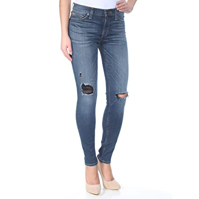Hudson Jeans Women's Nico Midrise Ankle W Distress Super Skinny at Women's Jeans store