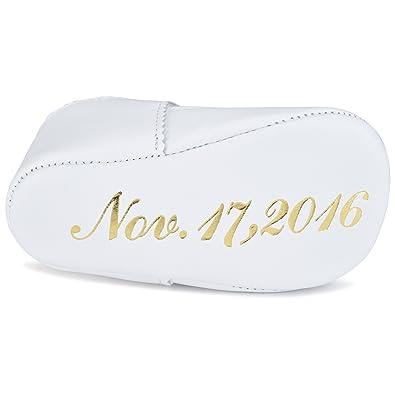 Amazon.com: Zapatillas de bautizo de cuero personalizado.: Shoes