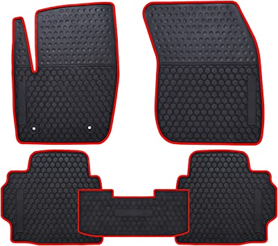 Amazon Com Ucaskin Car Floor Mats Custom Fit For Ford Fusion 2013 2014 2015 2016 2013 2016 Lincoln Mkz Odorless Washable Rubber Foot Carpet Heavy Duty Anti Slip All Weather Protection Car Floor Liner Red Automotive