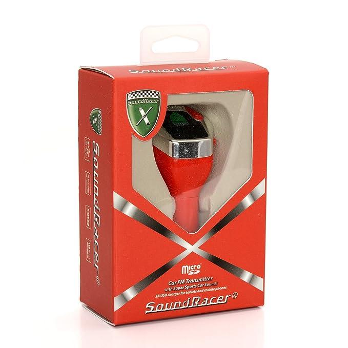 SoundRacer X GH-SRVX Reproductor con Ranura Micro SD, Color Rojo: Amazon.es: Electrónica