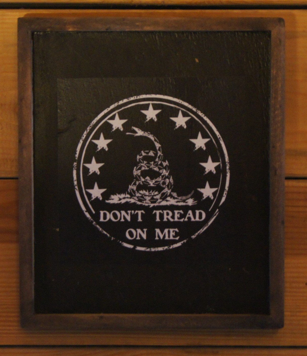 Don't Tread on Me America Wooden Sign