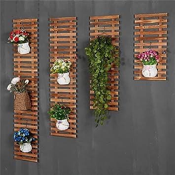 Stands Exterieure Herb Plante Fleur Bois Massif Sur Le Mur Porte