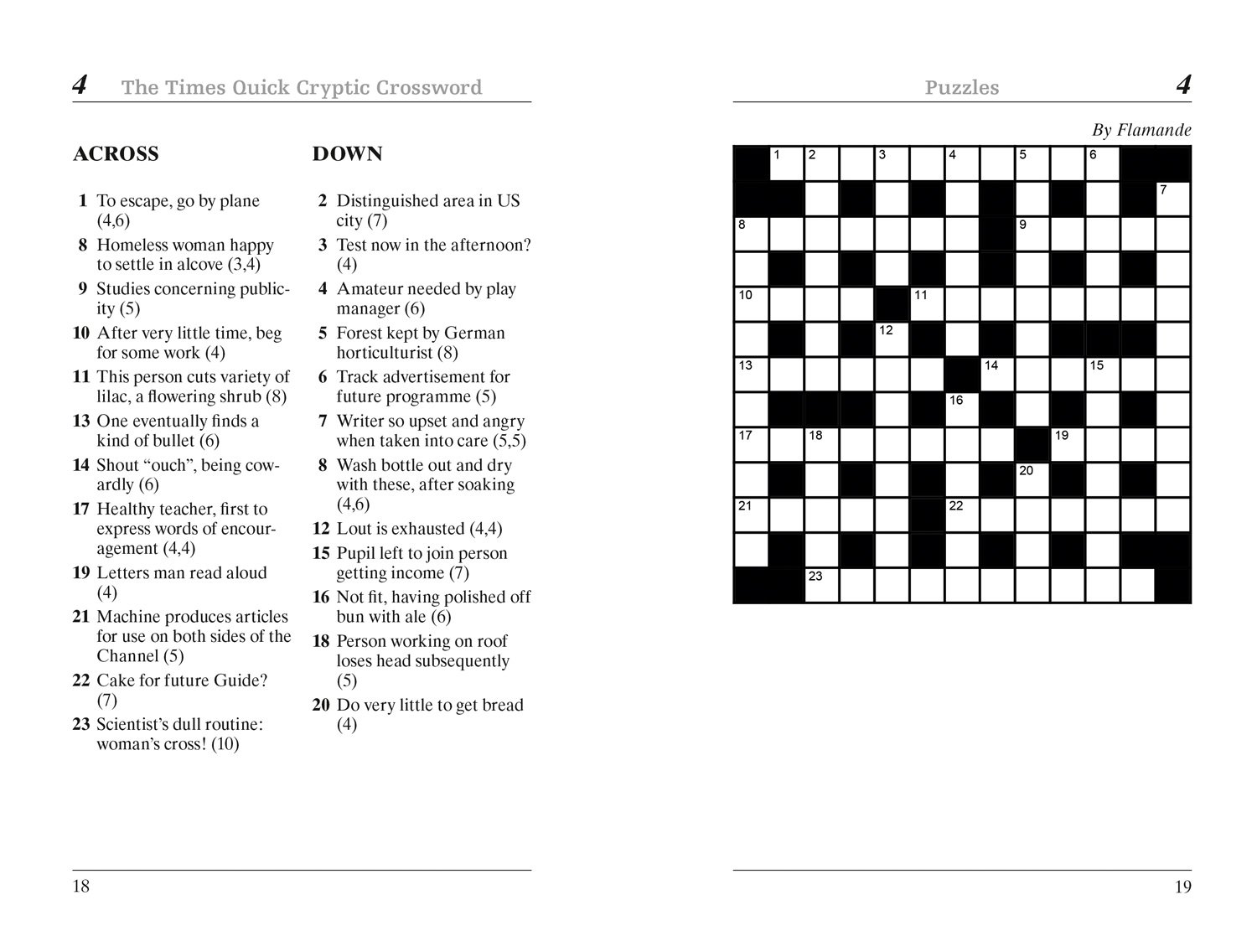 graphic about Cryptic Crosswords Printable named The Occasions Simple Cryptic Crossword reserve 1: 80 physically demanding