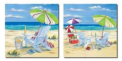 adirondack chairs on beach. 5 O\u0027clock Beach -Fun Scene Adirondack Chairs, Umbrella, Icechest Of Adirondack Chairs On Beach