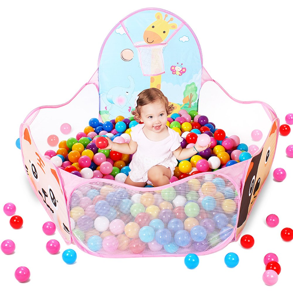 EocuSun Kids Ball Pit Ball Tent Pop up Children Baby Toy Toddler Ball Pit for Indoor Outdoor Play, Balls Not Included (Pink) 5505828