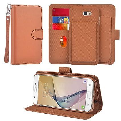8ff99d95a4c Amazon.com  UrSpeedtekLive Galaxy J7 Prime Detachable Wallet Case ...