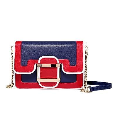 1c6be9c554fad Damen Tasche Messenger Bag Persönlichkeit Mode Kontrast Tasche Kette Tasche  Schulter Kleine Tasche Lock Bag