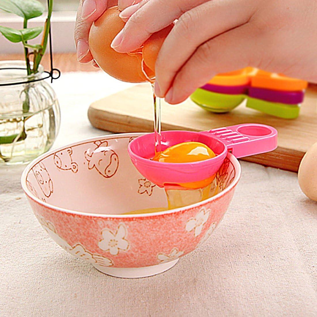 Kitchen Cooking Tools 4pcs Plastic Egg Yolk and Albumen Separator Divider Pink