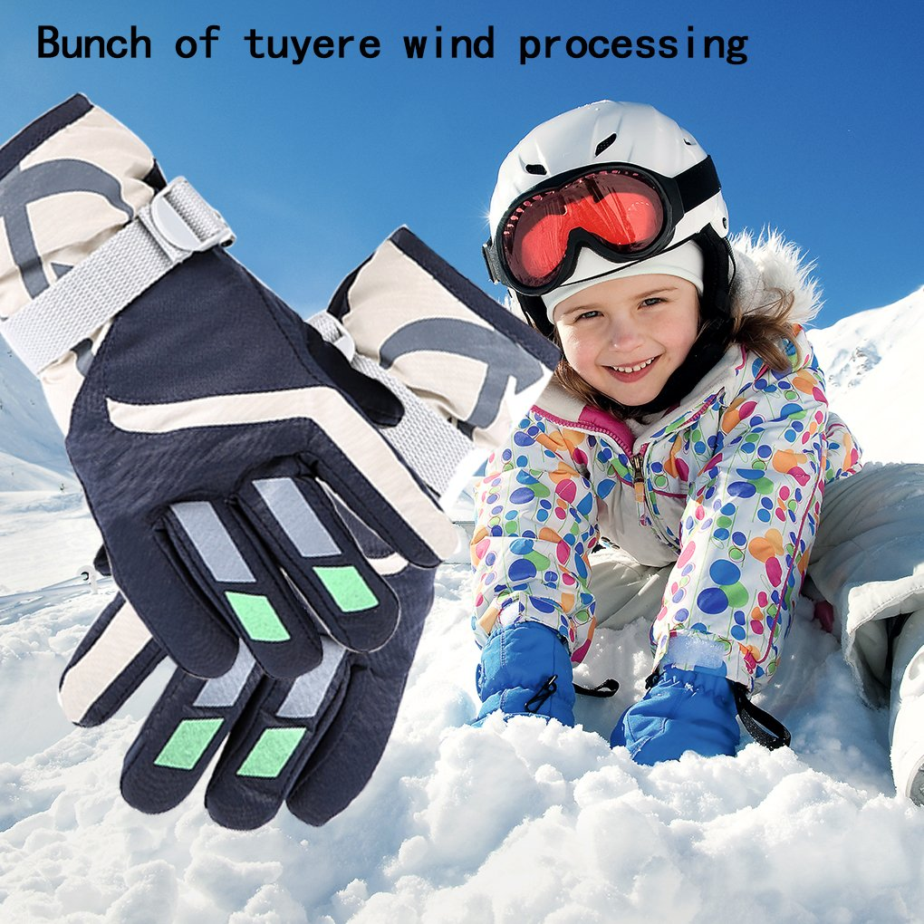 1-4 years Lovely Ski Gloves Winter Outdoor Snow Warm Mitten for Kids Boys and Girls