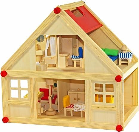 Designladen Puppenhaus Puppen 7-k/öpfig beweglich Holz